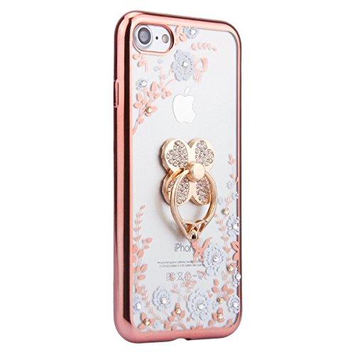 iPhone SE Case Slim,iPhone SE Hülle Transparent,iPhone SE Hülle Glitzer,iPhone 5S Clear Flüssige Hart Case Hülle Klare Plastik Gel Schutzhülle Rückschale Etui für iPhone 5,iPhone 5S Hülle Kreative Liq Flower TPU 3