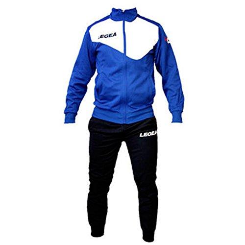 Tuta Legea M1110 Messico da Uomo Completa Giacca e Pantalone Training Sportiva (L, Azzurro-Bianco)