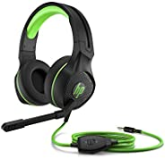 HP Pavilion Gaming Headset 400, Sleek Gaming Head-Band, with Microphone, Wired 3.5mm jack, Black/Green - 4BX31