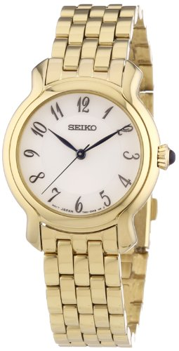 SRZ392P1 Seiko Women's Quartz Analogue Watch-Face-White Gold Plated Steel Bracelet