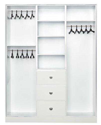 Barbie Y3354 - Armario para ropa y complementos, color blanco