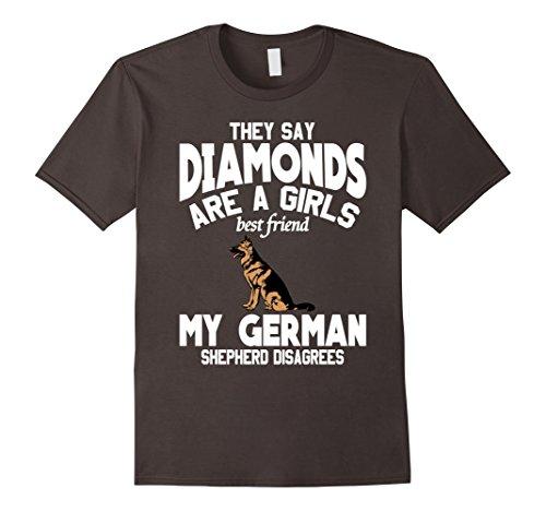 My German Shepherd is my Best Friend Not Diamonds T-Shirt