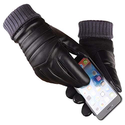 PAPLIU Guanti Da Uomo Lunghi In Pelle Guanti Touchscreen Caldi Guanti Impermeabili Guanti Riscaldati Abbigliamento Da Moto Inverno A