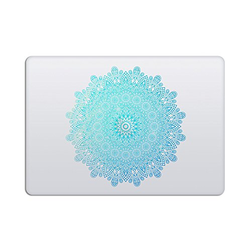 artsybb Mandala Abnehmbare Vinyl Aufkleber Aufkleber Skin für Apple MacBook 30,5 cm Mac Retina Laptop Mehrfarbig Starry Night - Green Blue - R - Mandala All 13-15