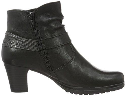 Gabor Damen Comfort Kurzschaft Stiefel Schwarz (20 Schwarz (ohne Nieten))