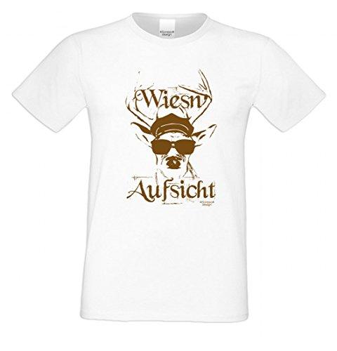 T-Shirt statt Tracht & Dirndl - Wiesn-Aufsicht - Lustiges Spruchshirt mit Motiv Geschenk zum Oktoberfest & Volksfest (Trachten Herren Idee)