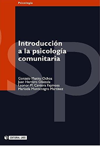 Introducción a la psicología comunitaria (Manuales) por Gonzalo Musitu Ochoa