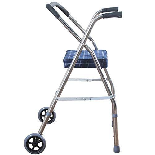FJIE Badestuhl - Mobility Rollator Walker Seat Für Erwachsene, Leichtgewichtler Mit Zwei Rollen Rollator Walker Mit Gepolstertem Sitz
