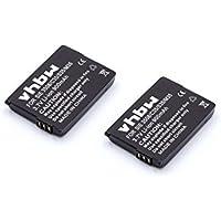2 x Batterie Li-Ion 900mAh (3,7 V) per Siemens Gigaset 4000 micro (s), 4010 (s), 4015 micro (s), M1 Profesionel, Siemens C35 (i), M35 (i), S35 (i)