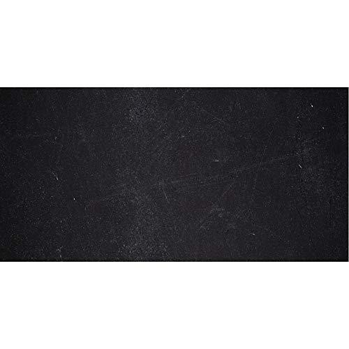 PrintYourHome Fliesenaufkleber für Küche und Bad   Dekor Schiefer Schwarz   Fliesenfolie für 10x20cm Fliesen   8 Stück   Klebefliesen günstig in 1A Qualität (Schwarze Schiefer-fliesen)
