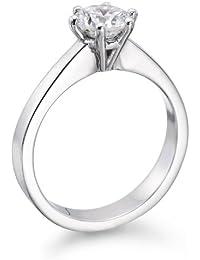 Solitaer Diamantring - 14K Gold Round mit Zertifikat 1.54 Karat