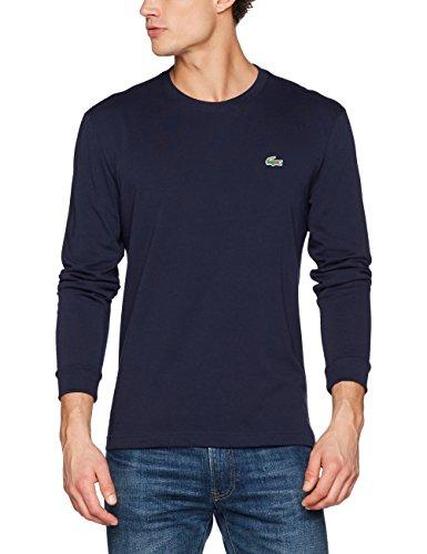 Lacoste Sport Herren Th0123 T-Shirt, Blau (Marine), Large (Herstellergröße: 5)