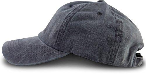 Navy Vintage Cap (FashionCHIMP Baseballcap im Vintage Used-Look aus 1005 Baumwolle, UNISEX Jeans Denim Cap (Navy-Blau))