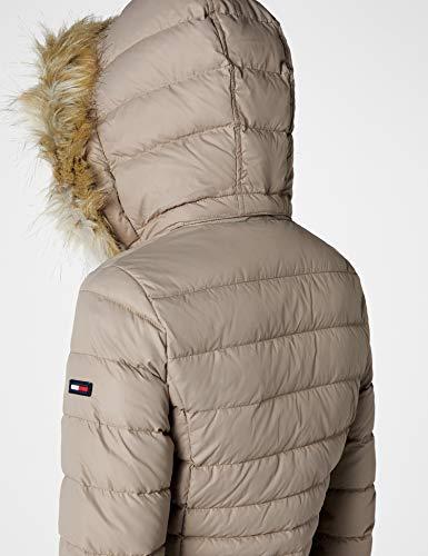 Tommy Jeans Hilfiger Denim Damen Mantel THDW Basic Coat 3, Beige (Fungi 004), X-Small - 7