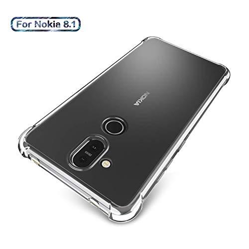 SCL Hülle Für Nokia 8.1/Nokia 7.1 Plus, Hülle-Kristallklarer Anti-Kratzer Weiche TPU Coverhülle für Nokia 8.1/Nokia 7.1 Plus, Ultra klar