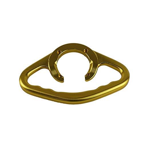 Kraftstofftankgriff Für Suzuki GSXR400 600 750 1000 1100 SV650 CNC Aluminium Motorrad Beifahrer Griffe Handgriff Tank Haltegriff Griffe Armlehne (Farbe : Gold)