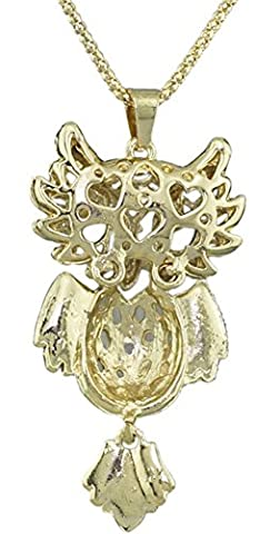 SaySure - Lovely Owl Golden Hollow Out Opals Crystal Exquisite