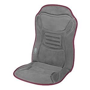 Ecomed MC-85E Autositzauflage mit Wärmefunktion, Massagesitzauflage mit Vibrationsmassage, Massageauflage mit 2 Intensitäten, zur Entspannung für den gesamten Rücken