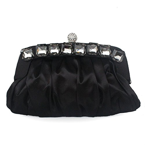 Caso Catena Delle Donne Con Catena Staccabile Evening Clutch Sling Handbag Black