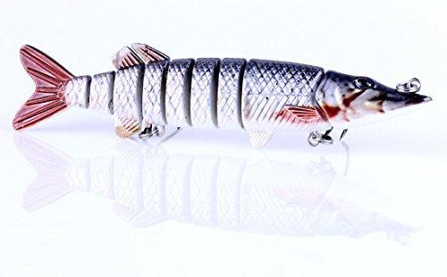 LENPABY 1 pcs 12.7 cm 20g dur mutil articulé vairon pêche leurres wobbler brochet carpe truite perche silure pêche appâts