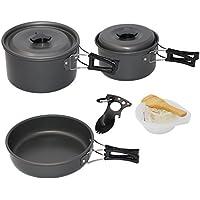 Startostar - Set di utensili da cucina da campeggio, leggero, compatto e resistente, con sacchetto (5 Pezzi Kit Mess Kit)