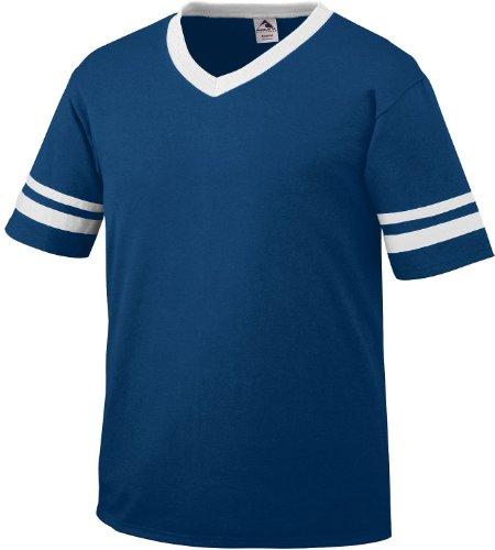 Augusta Herren T-Shirt Weiß Weiß Blau - navy