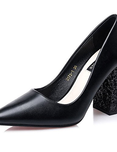 WSS 2016 Chaussures Femme-Décontracté-Noir / Rouge / Kaki-Gros Talon-Talons-Talons-Laine synthétique red-us6 / eu36 / uk4 / cn36
