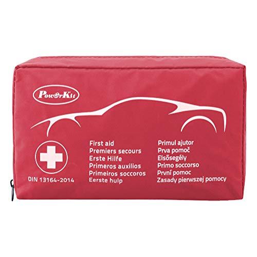 PowerKit® Klein & kompakt Erste-Hilfe-Kit/Set (Verbandkasten) Professionelles Design für Haus, Fahrzeug, Reise, Büro, Arbeitsplatz, Kinderbetreuung, Wandern, Survival & Outdoor