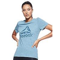 Reebok Women's Training Essentials Marble Logo T-Shirt, Grey (Teal Fog ), Small