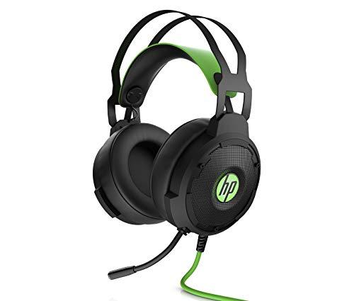 Oferta de HP Pavilion 600 - Auriculares Gaming (Sonido 7.1 Surround, Almohadillas cómodas, iluminación LED Verde, micrófono con Brazo Ajustable) Negro y Verde
