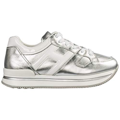 .Hogan Sneakers H222 Bambino Argento 35 EU