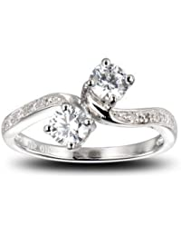 Eternally Forever 1 Carat Ring, Rings For Girls And Women, Size : 13, - By Ornate Jewels