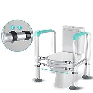 WJled Armlehne WC Geländer Regal Old Man Badezimmer WC-Boost-Rack-Schwangere Frauen Behinderte Badezimmer Sicherheits-WC…