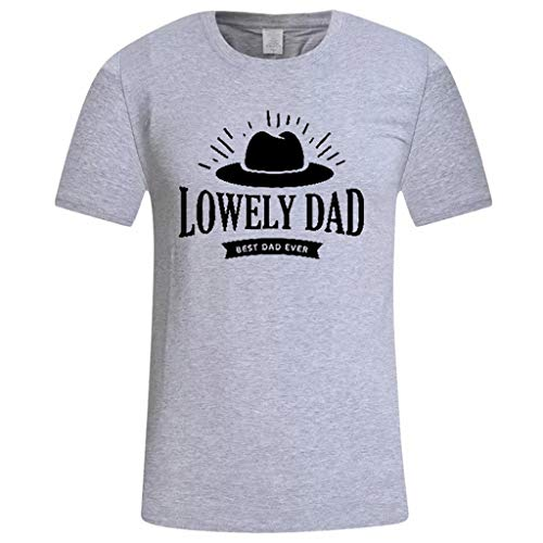 n Männer Casual Printed Shirts Geschenk für Papa Shirts für Papa Papa und Sohn Tops Bluse Sommer Vatertag Print Kurzarm 3D Druckten Shirt für Männer bis Größe ()