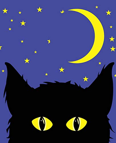 Glowing Eyes Bright Moon School Composition Book 130 Pages: (Notebook, Diary, Blank Book) (Halloween Theme School Composition Books Notebooks) ()