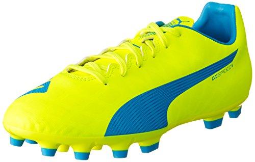 Puma Evospeed 5.4 Ag, Chaussures de football homme Jaune - Gelb (safety yellow-atomic blue-white 04)
