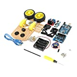 NON Sharplace DIY L298N 2WD Ultrasónico Inteligente Robot De Moteur Car Kit De Coche para Arduino