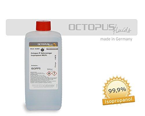 Preisvergleich Produktbild 500 ml Isopropanol 99,9%, das Allroundmittel zum gründlichen Reinigen, Fettlösen, Nagellackentfernen, uvm.