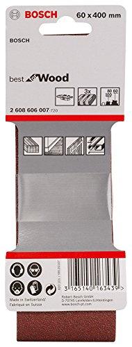 Bosch Pro 3tlg. Schleifband-Set für Bandschleifer Holz und Farbe Best for Wood and Paint (Körnung 60/80/100, X440)
