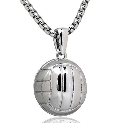 TINGSU Volleyball-Halskette, Edelstahl, für Damen, Sport-Geschenk, Volleyball-Liebhaber, Hip-Hop-Schmuck (Gold)