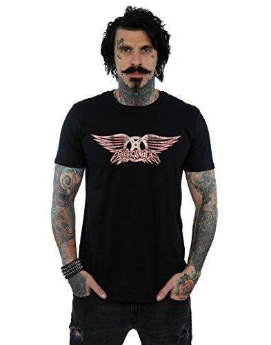 Aerosmith Herren Wing Logo T-Shirt Schwarz