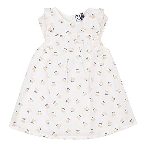 3 pommes Baby - Mädchen Kleid Gr. 2-3 Jahre (Hersteller Größe: 2/3A), Weiß (Blanc Casse 19)