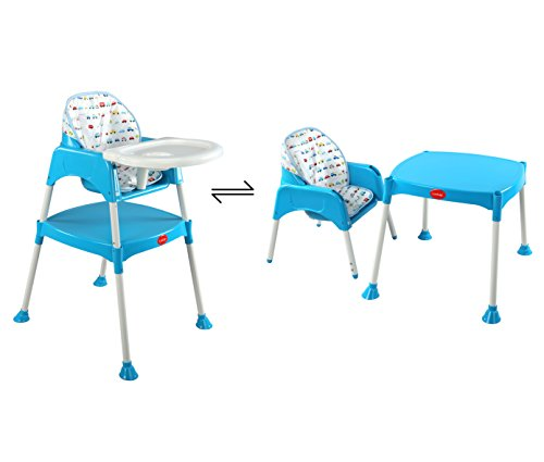 LuvLap 3 in 1 Convertible Baby High Chair with Cushion -Blue