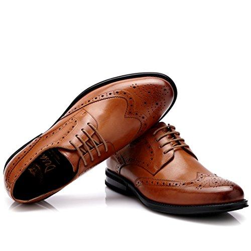 Desai Derby Chaussures de ville à lacets,Brogues Homme Tan