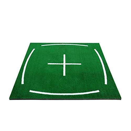 PGM Golf Course Hitting Mat Driving Range Practice Mat----4.92FT*4.92FT, With Alignment Line, Teaching Equipments,