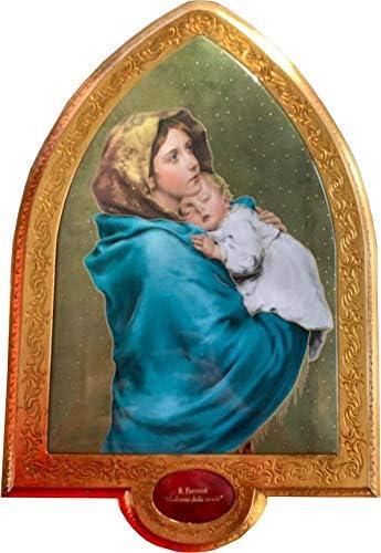 Generico (Maria Cornice Gotica in Foglia oro (Maria Generico con Bambinello) c607af