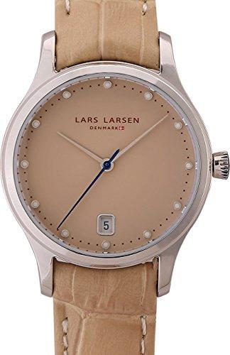 Lars Larsen Clara Women's Quartz Watch with Beige Dial Analogue Display and Beige Leather Strap 139SSSL