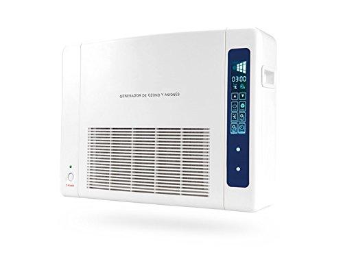 Ozono | Generador de Ozono Doméstico Digital Portátil Multifuncional | Purificador de Aire | Incluye Filtro Hepa | Filtra hasta un 99,95% de contaminación | Para Tratar Asma, Elimina Olores