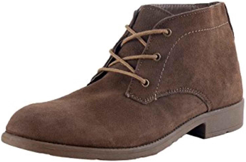 HSM - Botas de Piel para hombre marrón marrón
