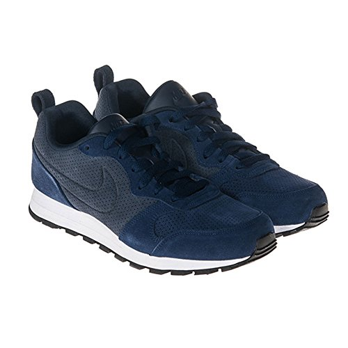 NIKE MD RUNNER 2 LEATHER PREM - 819834-400 - SCARPA UOMO Blau (Binary Blue/Obsidian/White)
